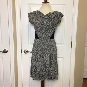 BETSEY JOHNSON Grey Floral Pleated ALine Dress 2
